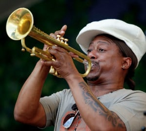 Kermit Ruffins, New Orleans symbol. One of my inspirations to start the trumet. Click the picture for some great New Orleans music.