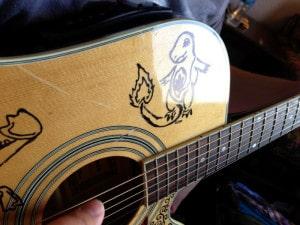 custom acoustic guitar customize sharpie