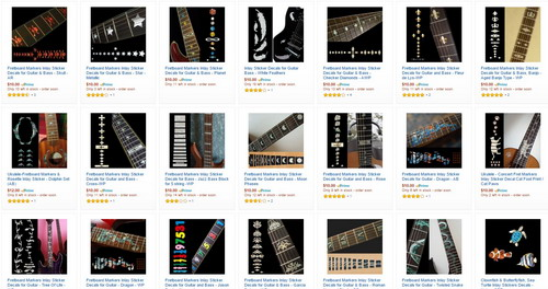 On the Jockomo store you can see hundreds of different kinds of inlays that can beautify your guitar easily.