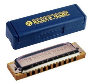 My personal favorite: Feels awesome, sounds awesome, lasts for years. The Hohner Blues Harp.