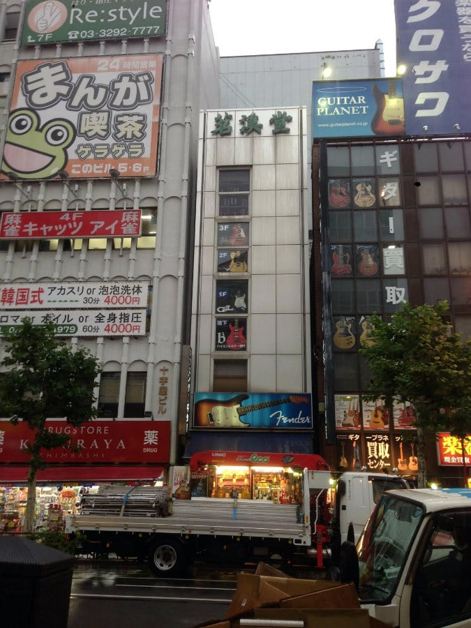 Japan is the consumer of more than 10% of musical instruments all over the world! Ochanomizu is Tokyo's music stores district and it has about 20 different music instruments store on one street, some of them are mega stores with 3-4 floors! An unbelievable street for every music lover!