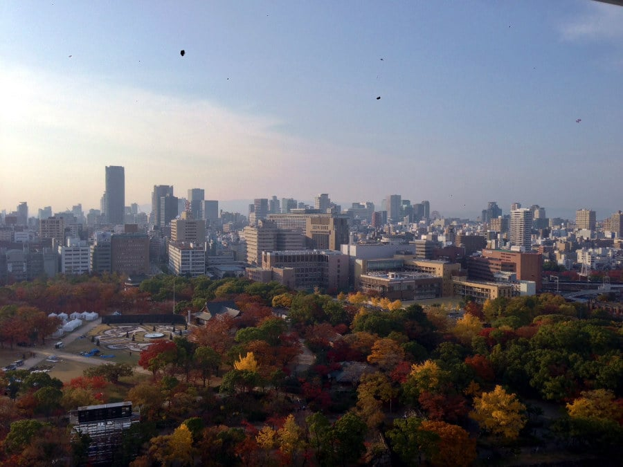 Osaka, Japan during the fall foliage.