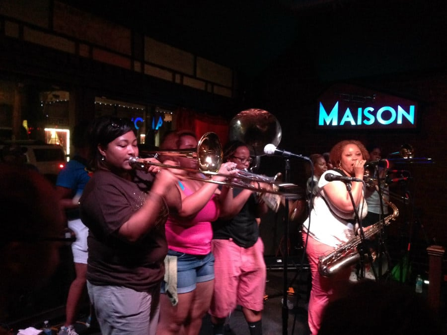 New Orleans amous for the crazy brass bands that are sure to keep you on your feet. I found this show with the local online music calander.