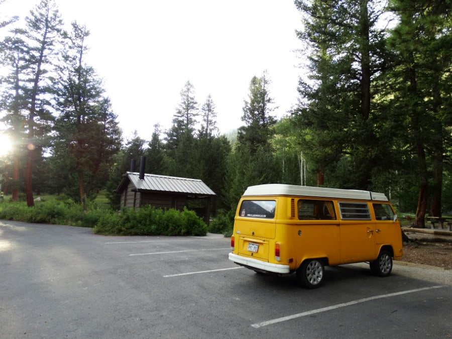 Joining a friend in the hip VW transporter in Colorado