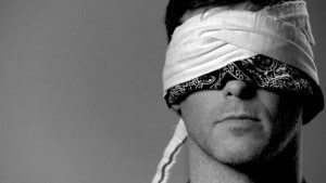 Finding a good and comfortable blindfold is important.