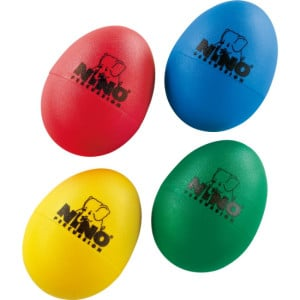 Buy 4 Egg Shakers for 8$ and play guitar and percussion simultaneously