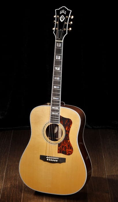 beautiful acoustic guitars guild d55