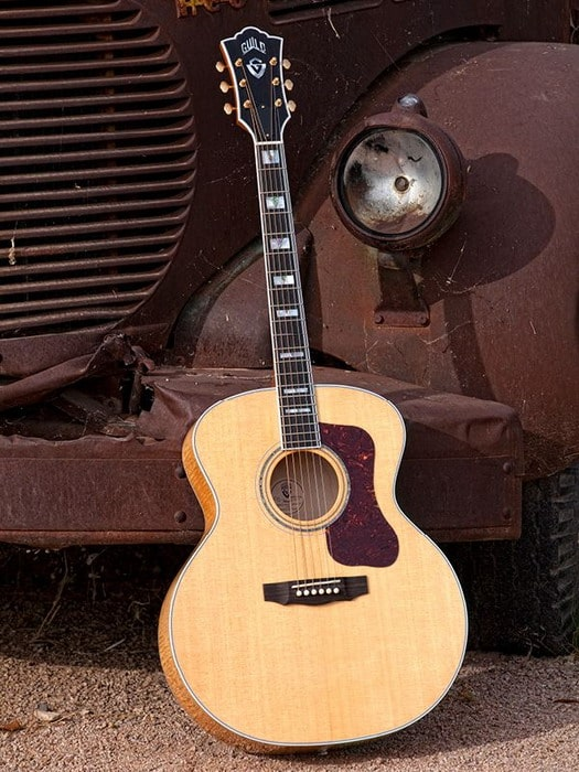 beautiful acoustic guitars guild f50