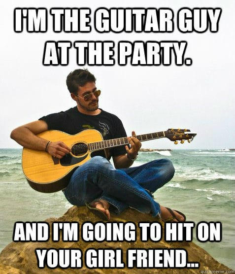 how to play here for the party on guitar