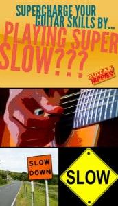 playing guitar slow