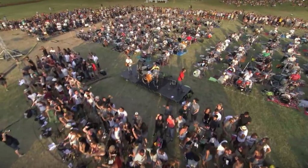 Cesena Italy's Fresh Take on Foo Fighters Learn to Fly