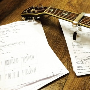 If you're not having massive fun whenever you pick up the guitar - something is wrong with what you choose to practice. How about creating a DIY chord book with your favorite books as a motivator to keep on practicing?