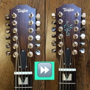 This is the Jockomo headstock sticker that I added to my Taylor twelver.