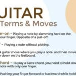 """Excellent """"Guitar Terms"""" Infographic for Beginners"""