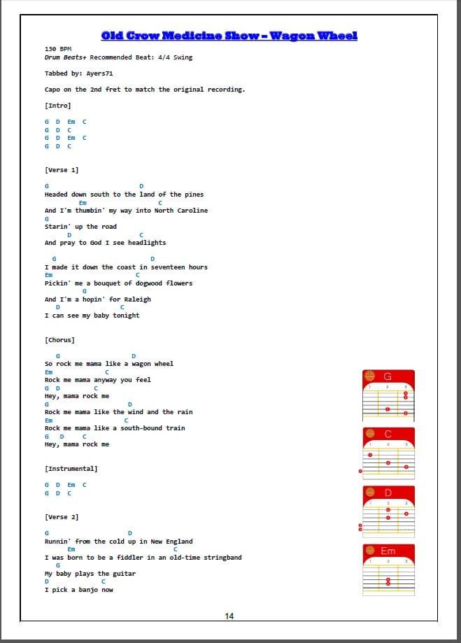 chordbook songbook
